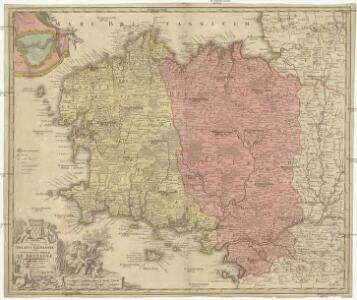 Tabula ducatus Britanniae Gallis le gouvernem.t general de Bretagne