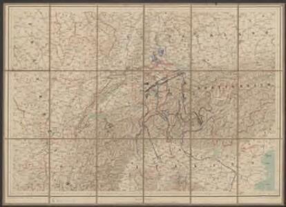 Uebersichtskarte der Schweiz mit ihren Grenzgebieten