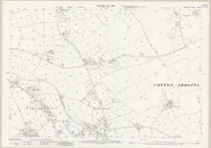 Cheshire XXXIX.13 (includes: Christleton; Cotton Abbotts; Cotton Edmunds; Rowton; Waverton) - 25 Inch Map
