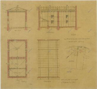 Plán ku zřízení lednice a pivního skladu v Jindř. Hradci 1