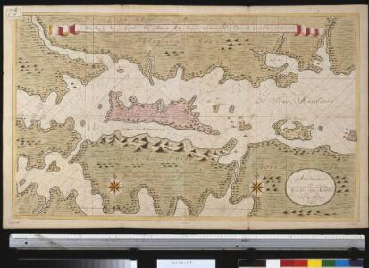 Afteekening van een gedeelte der Straet Magellanus, vertoonende t eijland Catherin of I. Louis le Grand