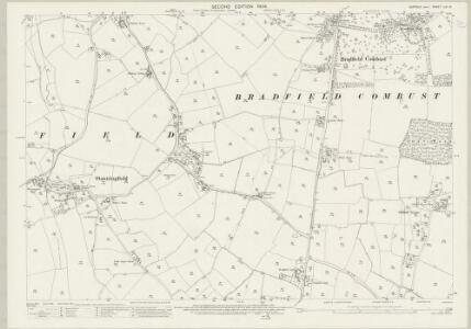 Suffolk LIV.12 (includes: Bradfield Combust; Cockfield; Great Welnetham; Stanningfield) - 25 Inch Map