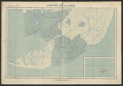 Carte de l'Indochine au 1:100 000. Flle N 244, Pointe de Ca-Mau