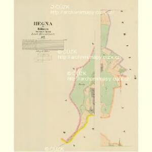 Hegna - c1806-1-004 - Kaiserpflichtexemplar der Landkarten des stabilen Katasters