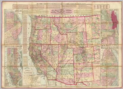 Watson's New County and Railroad Map of the Western States and Territories.