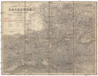 Spezial-Karte von Salzburg, Salzkammergut und einen Theil von Tyrol