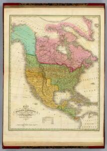 Map of North America Including All The Recent Geographical Discoveries. 1826.