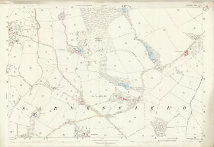 Herefordshire XXV.2 (includes: Almeley; Kinnersley; Norton Canon; Sarnesfield; Weobley) - 25 Inch Map