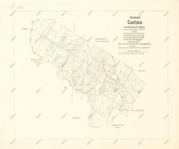 Lesní mapa revíru Tachov