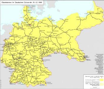 Eisenbahnen im Deutschen Zollverein 31.12.1869