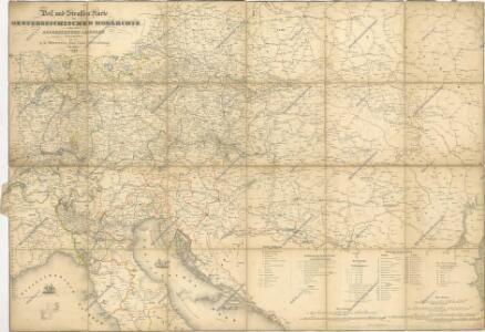 Post und Strassen Karte der oesterreichischen Monarchie nebst allen angrenzenden Landern herausgegeben von der k.k. Obersten-Holf-Post-Verwaltung im Jahre 1840