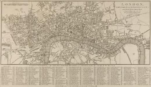 LONDON extending from the HEAD of the PADDINGTON CANAL West to the WEST INDIA DOCKS EAST with the proposed improvements between the Royal exchange and Finsbury Square