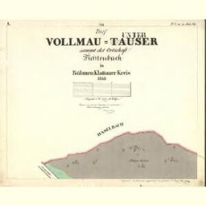Vollmau Unter - c1279-1-001 - Kaiserpflichtexemplar der Landkarten des stabilen Katasters