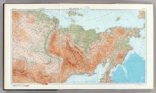 40-41.  RSFSR, North-East.  The World Atlas.