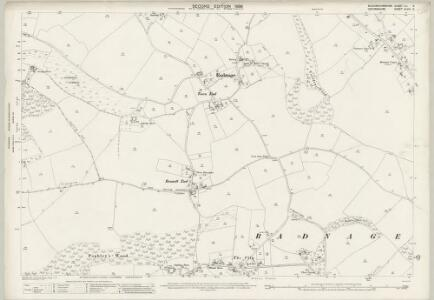 Buckinghamshire XLI.6 (includes: Bledlow cum Saunderton; Crowell; Radnage; Stokenchurch) - 25 Inch Map
