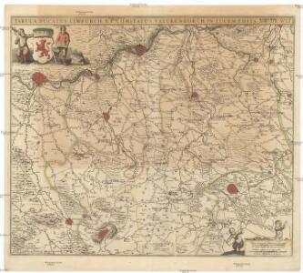 Tabula ducatus Limburch et comitatus Valckenburch