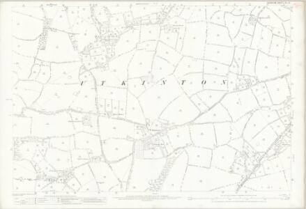 Cheshire XL.13 (includes: Rushton; Utkinton; Willington) - 25 Inch Map
