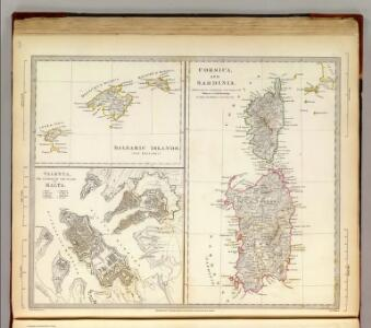 Corsica, Sardinia, Belearic Islands, Valetta.
