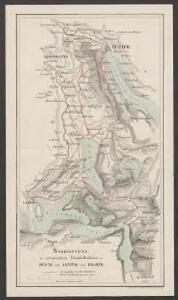 Situationsplan der projectirten Eisenbahnlinien von Zürich nach Luzern und Brunnen