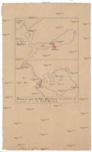 Plane der beyden See Häfen Skielskior und Corsoer auf der Insel Seeland