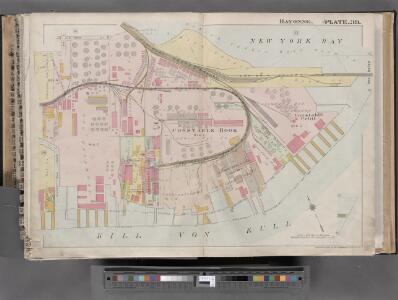 Jersey City, V. 1, Double Page Plate No. 39 [Map bounded by New York Bay, Kill Von Kull, E. 22nd St.] / compiled under the direction of and published by G.M. Hopkins Co.