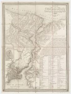 Plan de Constantinople : du Bosphore & du Canal de la Mer Noire dessiné d'apres les meilleurs materiaux