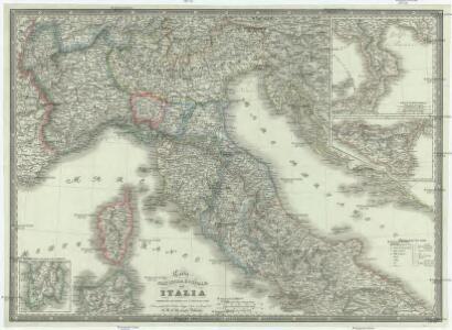 Carta statistica e postale dell'Italia