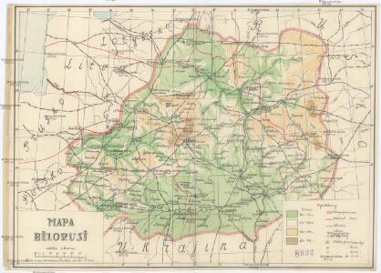 Mapa Bělorusi