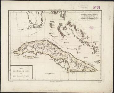 Carte de l'Isle de Cuba et des Isles Lucayes