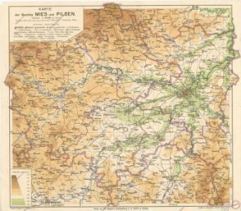 Karte des Bezirke Mies und Pilsen