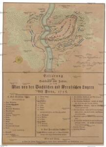 Plan von dem sächsischen und preußischen Lager bey Pirna 1756