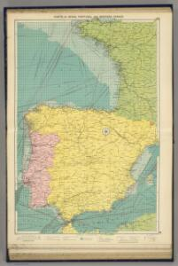 Spain, Portugal, W. France.