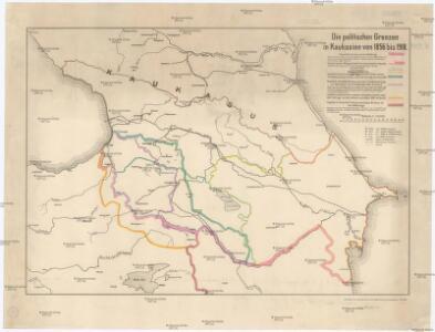 Die politischen Grenzen in Kaukasien von 1856 bis 1918