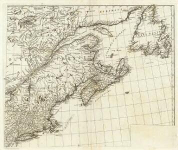 (Canada, Louisiane et Terres Angloises. Northeast section)