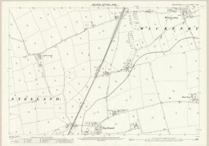 Lincolnshire LIII.15 (includes: Freisthorpe; Snelland; Stainton by Langworth; Wickenby) - 25 Inch Map