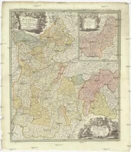 Bavariae pars superior tam in sua regimina principaliora quam in eorundem praefecturas particulares accurate divisa