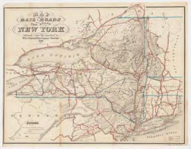 Map of the rail-roads of the state of New York