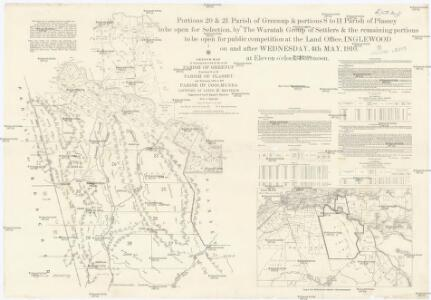 Sketch map of portions 6 to 13 & 15 to 32 parish of Greenup, portions 8 to 11 parish of Plassey and portions 174 to 177 parish of Coolmunda countries of Clive & Bentinck