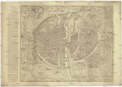 Plan en perspective de la ville de Paris tell qu'elle etoit sous la regne de Charles IX