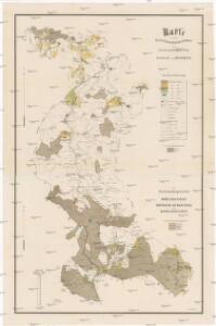 Karte von den Fürstlich Hohenzollen'schen [sic] Waldungen der Forstverwaltungsbezirke Glosau und Bistritz