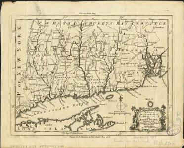 A map of the colonies of Connecticut and Rhode Island, divided into counties & townships, from the best authorities