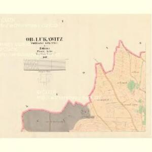 Ob: Lukawitz (Horegssi Lukawice) - c2094-1-001 - Kaiserpflichtexemplar der Landkarten des stabilen Katasters