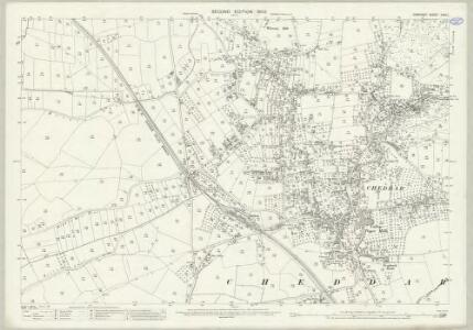 Somerset XXVII.1 (includes: Cheddar) - 25 Inch Map