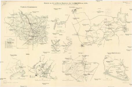 Skizzen zu den größeren Manövern der fremden Armeen 1906