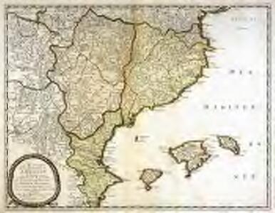 Les estats de la couronne d'Arragon en Espagne ou sont l'Arragon royaume, le Catalogne princip.te