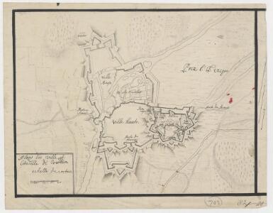 Plans des ville et citadelle de Verdun