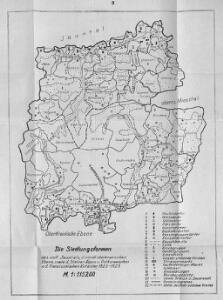 Die Siedlungsformen des südlichen Jauntals, der nördlichen oberkrainischen Ebene, sowie der Steiner Alpen und Ost Karawanken, n.d. Franziszeischen Kataster 1825-1828