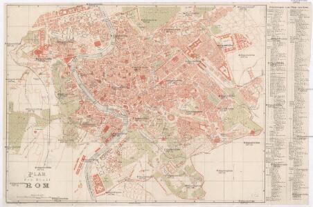 Plan der Stadt Rom