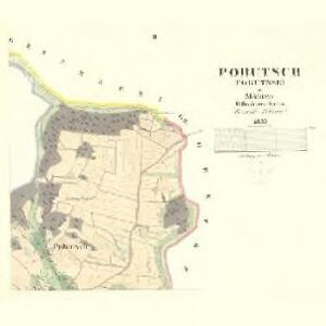 Pobutsch (Pobutsse) - m2310-1-002 - Kaiserpflichtexemplar der Landkarten des stabilen Katasters