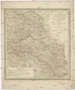 Charte von Galizien, oesterreichisch und russischen Antheils